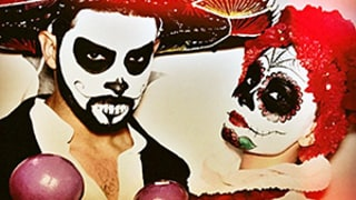 Demi Lovato, Wilmer Valderrama Wear Intense Day of the Dead Makeup for Halloween