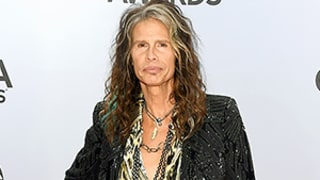 Steven Tyler Steals the 2014 CMA Awards Red Carpet in Leather Pants, Sequined Blazer: See the Picture of His Red Carpet Look