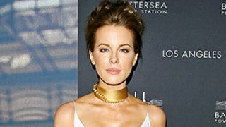 Kate Beckinsale Looks Flawless at 41: See Her White-Hot Dress and Bold Gold Choker!