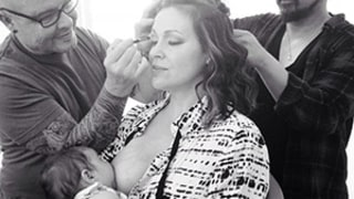 Alyssa Milano Pulls a Gisele Bundchen, Shares Revealing Multitasking Breastfeeding Photo