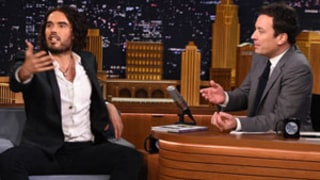 Russell Brand Stuns Jimmy Fallon With Hilarious Monologues During