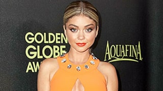 Sarah Hyland Adds Cleavage, Sex to Orange Jumpsuit: See Her Red Carpet Look