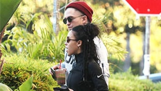 Robert Pattinson Shamelessly Grabs Girlfriend FKA Twigs' Butt During Lunch: Photo