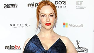 Christina Hendricks Is the Red Carpet Queen of Jewel Tones: See Her Deep Navy Gown