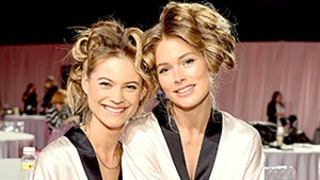 Behati Prinsloo, Doutzen Kroes Prep Backstage at Victoria's Secret Fashion Show 2014: See the Angels Getting Goofy!