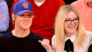 Dakota Fanning's Hot Dad Turns Heads at New York Knicks Game: Photos