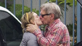 Harrison Ford Kisses Wife Calista Flockhart: PDA Picture