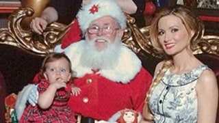 Holly Madison Shares Adorable Pic of Daughter Rainbow Meeting Santa on Instagram: Picture