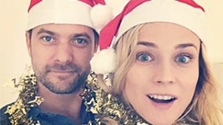 Diane Kruger, Joshua Jackson Share Adorable Christmas Card Selfie -- See the Pic!