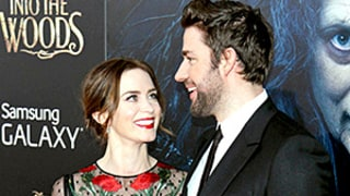 Emily Blunt Flashes Her Bra in See-Through Floral Dress on Red Carpet Date Night With John Krasinski
