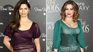 Camila Alves, Alyssa Milano Wear the Same Ruched, Sheer Dress on the Red Carpet: Who Wore It Best?