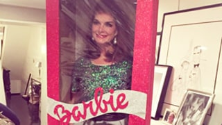 Brooke Shields Poses as Life-Size Holiday Barbie Inside Box: Bizarre Instagram Picture