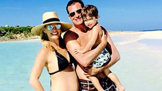 Molly Sims Shows Off Her Fit Pregnant Bod in Teeny Black Bikini With Husband and Son -- See the Family Vacay Snap