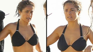 Salma Hayek Sports Sexy Black Bikini on Vacation, Looks Amazing at 48: Pictures