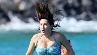 Mariska Hargitay Plunges Into the Ocean Off a High Dive, Lets Loose on Family Vacation at 50: Pictures
