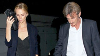 Charlize Theron Wows in Low-Cut Dress, Steps Out With Sean Penn After Engagement News: Photo