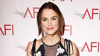 Keira Knightley Conceals Baby Bump in Loose Floral Gown at AFI Awards -- See Her Pregnancy Glow!