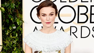 Keira Knightley Dresses Baby Bump in Bug-Print Chanel Gown at Golden Globes 2015
