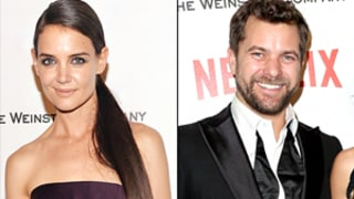 Katie Holmes, Joshua Jackson Stage Dawson's Creek Reunion at Golden Globes 2015