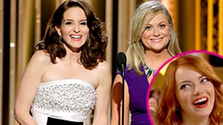 George Clooney, Emma Stone, Other Stars React to Tina Fey, Amy Poehler's Jokes About Them at 2015 Golden Globes: See the GIFs!