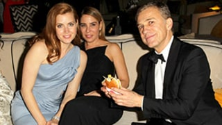 Christoph Waltz and His Cheeseburger Win Best Couple at Golden Globes Afterparty: Funny Pictures