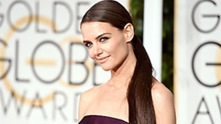 Katie Holmes Looks Sleek With Extra Long Ponytail at the 2015 Golden Globes: See Her Waist-Length Hairstyle!