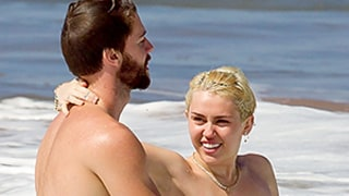 Miley Cyrus Goes Completely Topless as Patrick Schwarzenegger Cuddles Her in Maui Surf -- See the Semi-NSFW Pics