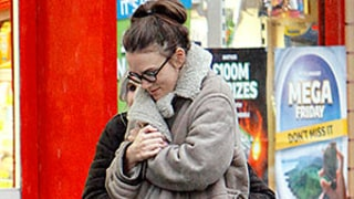Pregnant Keira Knightley Rocks Rainbow-Bright Shoes in London: See Her Maternity Street Style!