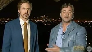 Ryan Gosling Attempts His Best Australian Accent, Videobombs Russell Crowe While He's Presenting at the AACTA Awards -- Watch