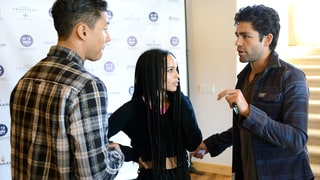 Quincy Brown, Zoe Kravitz, and Adrian Grenier