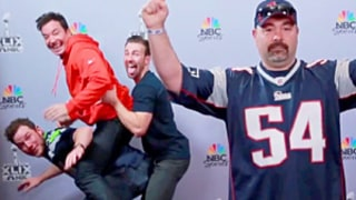 Jimmy Fallon, Chris Pratt, Chris Evans Hilariously Photobomb Super Bowl Fans: Watch!