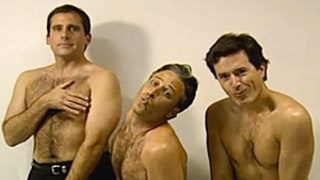 Jon Stewart, Steve Carell, Stephen Colbert Dance Shirtless, Bare Hairy Chests in Awkward Throwback Video: