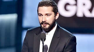 Shia LaBeouf Read Love Letter to Sia on Behalf of Her Husband Erik Before Grammys 2015 Performance