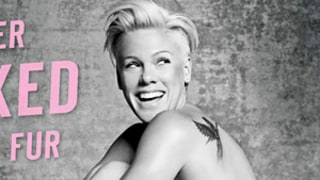 Pink Poses Nude for PETA on Gigantic Billboard: Get the First Look at the Sexy Pic!