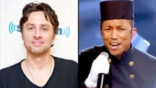 Zach Braff Apologizes on Twitter for Comparing Pharrell Williams to a Monkey During Grammys 2015 Performance