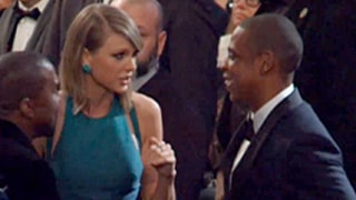 Taylor Swift May or May Not Have Adamantly Asked Jay Z to Go to Brunch at the Grammys -- Watch the Funny Video Here
