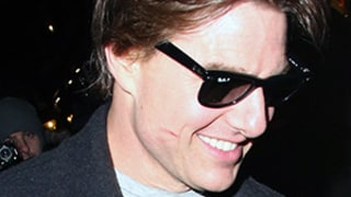 Tom Cruise Reunites With Ex Penelope Cruz and Salma Hayek, Leaves Dinner Date With Adorable Lipstick Stain on His Cheek -- See the Pics!