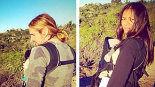 Zoe Saldana, Marco Perego Go Hiking With Newborn Twins Cy and Bowie -- See Their Pic Here!