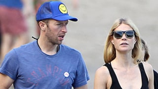 Gwyneth Paltrow, Chris Martin Link Arms, Take Beach Stroll on Valentine's Day -- See the Pics