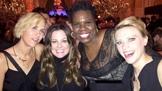 Ghostbusters' Female Cast Kristen Wiig, Melissa McCarthy, Leslie Jones, Kate McKinnon Mingle at SNL's 40th Anniversary Afterparty: Photo