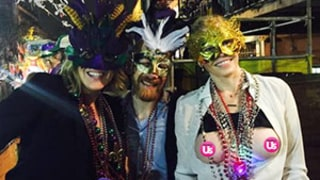 Chelsea Handler Flashes Her Breasts, Celebrates Mardi Gras With Sandra Bullock and Pals: Pictures