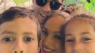Jennifer Lopez, Marc Anthony Take Adorable Selfie With Twins Max and Emme at Their 7th Birthday Party: Photo