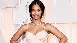 Zoe Saldana Looks Crazy Skinny Three Months After Welcoming Twins at Oscars 2015: Photo