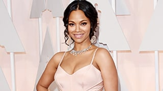 Zoe Saldana's Incredible Post-Baby Body Look at the Oscars, Explained! Plus, How Her Twin Boys Helped Her Prep for the Red Carpet