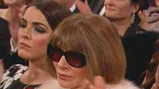Anna Wintour Wears Her Sunglasses During the Oscars 2015: Photos