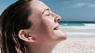 Drew Barrymore Goes Without Makeup While Celebrating 40th Birthday at the Beach: Photo