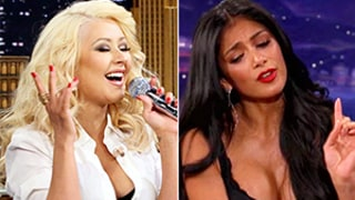 Christina Aguilera vs. Nicole Scherzinger: Battle of the Britney Spears Impressions!