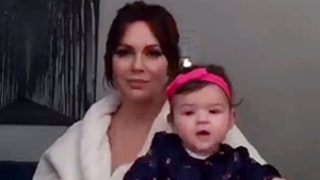 Alyssa Milano Gets Dolled Up in Makeup Chair With Baby Girl Elizabella On Her Lap: Video