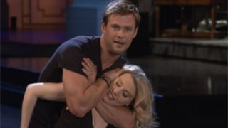 Chris Hemsworth Puts Kate McKinnon in Dirty Dancing Choke Hold For SNL Promo -- Watch!