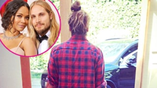 Zoe Saldana's Husband Marco Perego Totes Twins in Matching Blue Carriers: Instagram Photo